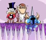 armor bird cane cranky_kong disney donkey_kong donkey_kong_(series) duck dying glasses hat helmet horned_helmet impaled monkey scrooge_mcduck setz shovel_knight shovel_knight_(character) spikes sweatdrop top_hat