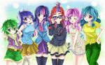 commentary kiriche minuette moondancer my_little_pony my_little_pony_friendship_is_magic spike_(my_little_pony) thigh-highs twilight_sparkle twinkleshine