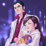food formal hair_ornament hairclip haruka_(ryu_ga_gotoku) kiryu_kazuma kiryuu_kazuma lowres ryu_ga_gotoku ryuu_ga_gotoku sawamura_haruka suit zen