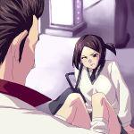 fallen_down fell_down formal kiryu_kazuma kiryuu_kazuma lowres peeking ryu_ga_gotoku ryuu_ga_gotoku school_uniform suit wince wink zen