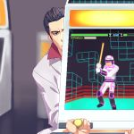arcade_cabinet formal joystick kiryu_kazuma kiryuu_kazuma lowres peeking ryu_ga_gotoku ryuu_ga_gotoku suit zen