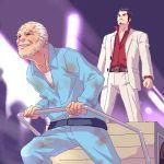 belt cart formal kiryu_kazuma kiryuu_kazuma lowres multiple_boys old_man ryu_ga_gotoku ryuu_ga_gotoku suit zen