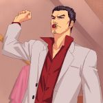 deadpan kiryu_kazuma kiryuu_kazuma lowres pacifier ryu_ga_gotoku ryuu_ga_gotoku suit zen