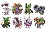 6+boys :p arm_up armor bald blue_skin body_armor boots burter captain_ginyu cell_(dragon_ball) cell_junior chibi clenched_hands cooler's_armored_squadron cooler_(dragon_ball) doore dorei dragon_ball dragon_ball_z energy_ball evil_grin evil_smile fang frieza ginyu_force_pose gloves green_skin grin guldo highres horns index_finger_raised iron_tonic jeice looking_at_viewer male_focus miniboy multiple_boys muscle neiz perfect_cell pink_sclera pose purple_skin raised_fist recoome red_eyes red_skin salza scouter simple_background slit_pupils smile spikes tail teeth tongue tongue_out triangle_mouth veins white_background white_hair yellow_sclera