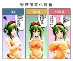3d artist_request breasts goggles goggles_on_head gumi highres huge_breasts large_breasts mikumikudance navel translation_request vocaloid