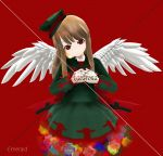 3d angel angel_wings artist_name character_name haiiro_teien hands_together hat macarona mikumikudance solo wings