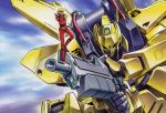 artist_request beam_rifle blonde_hair char_aznable energy_gun gundam hyaku_shiki mecha quattro_vageena source_request sunglasses tagme zeta_gundam