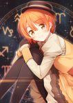 1girl hat hoshizora_rin love_live!_school_idol_project multiple_girls nagareboshi orange_hair pantyhose short_hair smile solo yellow_eyes