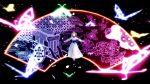1girl 3d butterfly closed_eyes dress highres mikumikudance oyasiro35 saigyouji_yuyuko solo touhou