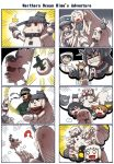 4koma :d ? ^_^ admiral_(kantai_collection) airplane armored_aircraft_carrier_oni bar_censor battleship_hime big_boss blue_eyes censored closed_eyes comic dress enemy_aircraft_(kantai_collection) eyepatch gooster headband headgear highres holding horns identity_censor kantai_collection metal_gear_(series) mittens multiple_4koma mutsu_(kantai_collection) nagato_(kantai_collection) northern_ocean_hime o_o open_mouth ponytail re-class_battleship red_eyes seaport_hime shinkaisei-kan silent_comic smile sweat tearing_up white_dress white_hair white_skin wo-class_aircraft_carrier x_x