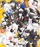 >:d >_< 6+girls :d ;d ahoge air_defense_hime aircraft_carrier_oni aircraft_carrier_water_oni airfield_hime anchorage_water_oni armored_boots battleship_hime battleship_water_oni black_gloves black_hair blue_eyes boots breasts broom choker claws closed_eyes covered_mouth destroyer_hime detached_sleeves dress escort_fortress_(kantai_collection) ezima_minami gauntlets gloves glowing glowing_eye gothic_lolita ha-class_destroyer hair_between_eyes hair_ornament hairband headband headgear heterochromia highres holding horn horns i-class_destroyer isolated_island_oni kantai_collection large_breasts light_cruiser_oni lolita_fashion lolita_hairband long_hair lying midway_hime mittens multiple_girls northern_ocean_hime one_eye_closed one_side_up open_mouth orange_eyes popsicle re-class_battleship red_eyes ru-class_battleship sailor_dress school_uniform seaplane_tender_hime seaport_hime seaport_water_oni senbei serafuku shinkaisei-kan short_dress short_hair side_ponytail smile sweat ta-class_battleship tail thigh-highs thigh_boots translation_request v violet_eyes white_dress white_eyes white_hair white_skin wo-class_aircraft_carrier zettai_ryouiki