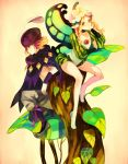 blonde_hair braid butterfly_wings fairy hat hat_feather ingway kawwa mercedes odin_sphere tree twin_braids wings