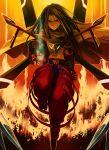belt black_hair cape fire long_hair male shaman_king yukihiko