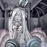 androgynous bracelet finger_in_mouth grey_skin hat headphones heart jewelry long_hair mettaton napstablook open_mouth personification ribbon ring saturnspace shell sleeveless solo top_hat undertale white_hair