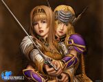 1girl _valkyrie alicia_(valkyrie_profile_2) braid breasts long_hair lowres official_art silmeria_valkyrie skirt solo tagme valkyrie_profile white_background yoshinari_kou yoshinari_you