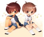 2boys brown_hair lowres multiple_boys nyaco original redhead shota