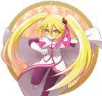 1girl blonde_hair diamond_queen kaitou_joker long_hair looking_at_viewer neko_nadeshiko smile solo twintails yellow_eyes
