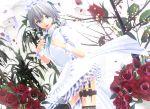 1girl 3d apron artist_request flower izayoi_sakuya knife looking_at_viewer maid maid_apron maid_headdress mikumikudance rose skirt solo touhou