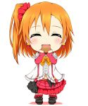 1girl bokura_wa_ima_no_naka_de chibi karamoneeze kousaka_honoka love_live!_school_idol_project smile solo