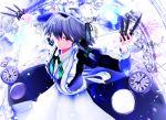 1girl apron artist_request izayoi_sakuya knife maid maid_apron mikumikudance solo touhou watch