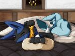 furry glaceon lucario no_humans pokemon pokemon_(creature) shiongaze umbreon