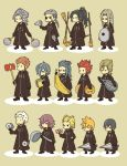 >_< 2girls 6+boys antenna_hair axel_(kingdom_hearts) banana black_coat black_hair blonde_hair blue_hair broom brown_hair cd chibi closed_eyes commentary_request demyx dragonfly dual_wielding everyone eyepatch facial_hair facial_mark fan food fruit gloves grey_hair hair_dryer hair_over_one_eye hairlocs kingdom_hearts kingdom_hearts_358/2_days ladle larxene lexaeus lid long_hair luxord marluxia multiple_boys multiple_girls o_o organization_xiii paper_fan pigeon-toed pink_hair pizza ponytail racket redhead roxas saix sandwich saucepan_lid scar simple_background spiky_hair squeaky_mallet standing t_t tennis_racket umbrella vexen weapon xaldin xemnas xigbar xion_(kingdom_hearts) zexion |_|