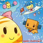 >_< 3boys 3girls :d akatsuki-kun akatsuki_(spacecraft) closed_eyes dcam1-chan dcam2-kun flag hat ikaros-kun ikaros_(spacecraft) kinsei-chan kiriga_yuki mascot michibiki-san michibiki_(spacecraft) multiple_boys multiple_girls open_mouth pom_poms sailor_collar signature smile solar_panel space space_craft star venus_(planet) xd