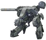 camouflage cannon commentary_request e79 gun lowres mecha metal_gear_(series) metal_gear_rex metal_gear_solid no_humans pixel_art radar_dish railgun science_fiction walker weapon