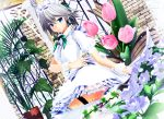 1girl 3d flower looking_at_viewer mikumikudance plant solo touhou
