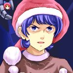 2girls aneha_zaku blue_eyes blue_hair capelet cosplay doremy_sweet doremy_sweet_(cosplay) floating_head hat kamille_bidan lowres mechanical_hand multiple_girls nightcap open_mouth redhead sekibanki shaded_face short_hair touhou
