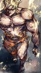 dragon_ball dragon_ball_z dragonball dragonball_z homex lightning male manly muscle shirtless son_goku son_gokuu super_saiyan topless torn_clothes
