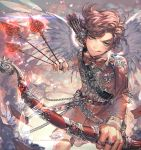 1boy :q aqua_eyes arrow artist_name bandolier bangs belt between_fingers bow_(weapon) buckle chain college_shirt copyright_name cosmo dress_shirt envelope feathered_wings flying_paper heart holding_weapon jacket jewelry kawacy lens_flare letter long_sleeves looking_at_viewer love_letter male_focus paper quiver red_bowtie red_jacket red_shorts redhead ring shirt solo swept_bangs the_fairly_oddparents tongue tongue_out transparent_wings weapon white_shirt white_wings wings