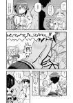 1boy 4girls admiral_(kantai_collection) anger_vein angry blush comic dated embarrassed flying_sweatdrops hayasui_(kantai_collection) heart highres imagining izumi_masashi kantai_collection kiss michishio_(kantai_collection) monochrome multiple_girls murakumo_(kantai_collection) ooi_(kantai_collection) remodel_(kantai_collection) sweatdrop tears translated twitter_username yuri