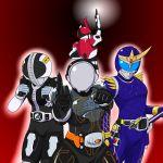 4boys am-atlas kamen_rider kamen_rider_den-o kamen_rider_den-o_(series) kamen_rider_gaim kamen_rider_gaim_(series) kamen_rider_ghost kamen_rider_ghost_(series) kamen_rider_kabuto kamen_rider_kabuto_(series) male multiple_boys
