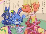 azumarill christmas delphox goomy jynx lucario no_humans pokemon pokemon_(creature) pokemon_(game) pokemon_xy