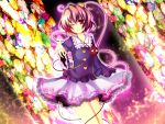 1girl komeiji_satori pink_hair short_hair solo stained_glass touhou uranaishi_(miraura)