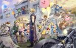 blonde_hair blue_eyes bowser breasts captain_falcon charizard cloud_strife donkey_kong final_fantasy fire_emblem fox_mccloud gloves hat jewelry jigglypuff kirby kirby_(series) link long_hair lucas luigi mario mario_(series) marth meta_knight metroid mr._game_&_watch multiple_boys multiple_girls ness nintendo olimar pac-man pikachu pikmin_(creature) pit_(kid_icarus) pokemon ponytail princess_peach princess_zelda red_(pokemon) red_(pokemon)_(remake) rockman_(character) rosetta_(mario) ryuu_(street_fighter) samus_aran smile spiky_hair super_smash_bros. sword the_legend_of_zelda toon_link villager_(doubutsu_no_mori) weapon wii_fit_trainer yoshi zelda_c_wang zero_suit