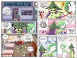 cacturne comic gardevoir gulpin highres no_humans pokemoa pokemon pokemon_(creature)