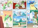 cacturne comic highres kirlia latios no_humans pokemoa pokemon pokemon_(creature) typhlosion