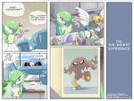 comic gardevoir highres hitmonlee metang ninjask no_humans nosepass pokemoa pokemon pokemon_(creature) snorlax