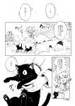 akemi_homura amy_(madoka_magica) black_cat cat comic goddess_madoka jewelry kaname_madoka mahou_shoujo_madoka_magica monochrome ring silverxp translation_request