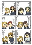 6+girls akiyama_mio anger_vein brown_hair character_request comic extra fish_tank hairband hirasawa_yui k-on! multiple_girls nakano_azusa open_mouth ribbon school_uniform shiitake_nabe_tsukami short_hair simple_background sweat tainaka_ritsu translated turtle