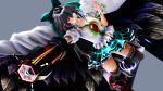 1girl 3d artist_request black_wings large_wings long_hair mikumikudance reiuji_utsuho skirt solo touhou wings