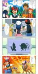 @_@ aipom buizel comic hat hikari_(pokemon) nintendo nozomi_(pokemon) pokemon pokemon_(anime) satoshi_(pokemon) soara takeshi_(pokemon) takeshi_(pokemon)_(dp) tauros translated translation_request