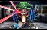 1girl 3d highres mask mikumikudance predator predator_(movie) shoulder_cannon solo touhou