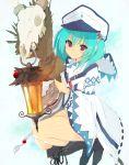 1girl blush hat highres hokkana lantern looking_at_viewer original smile