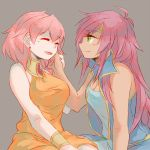 2girls faris_scherwiz final_fantasy final_fantasy_v hand_on_another's_cheek hand_on_another's_face lenna_charlotte_tycoon multiple_girls pink_hair siblings sisters sunagimo_(nagimo)