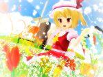 1girl 3d field flandre_scarlet flower flower_field highres kurogoma_(meganegurasan) mikumikudance solo touhou wings