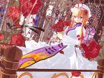 1girl 3d dress flower flower_on_head highres kurogoma_(meganegurasan) mikumikudance solo touhou