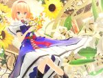 1girl 3d alice_margatroid dress flower hairband highres kurogoma_(meganegurasan) mikumikudance solo sunflower touhou